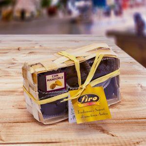 Basket of dried figs with almond glazed with dark chocolate 200 g